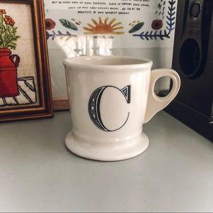 Anthropologie C Monogram Mug
